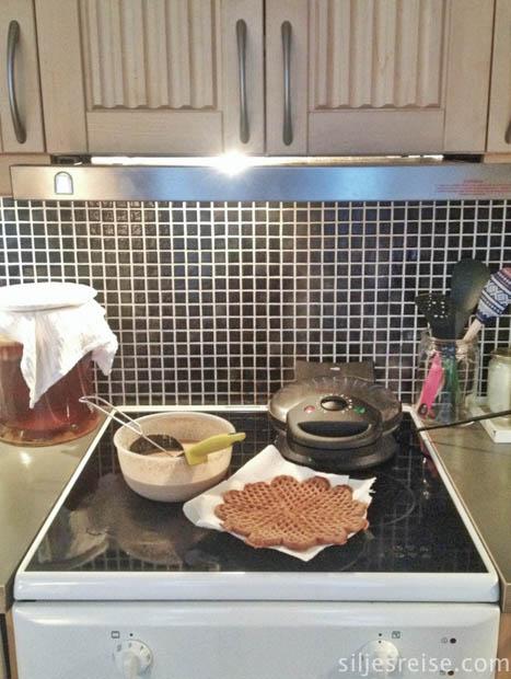 Havrevaffel lørdagsfrokost (1 of 1)