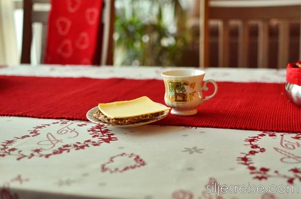 Jul knekkebrød med ost