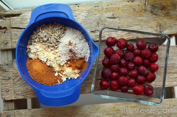 Kirsebær smuldrepai blogg 1