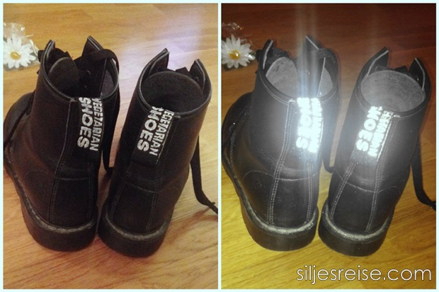 Refleksgarn på sko